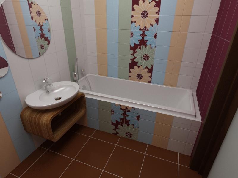 Удачный выбор плитки для маленькой ванной