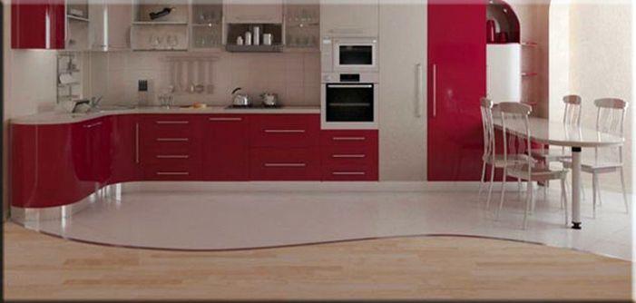 красивое напольное покрытие для кухни