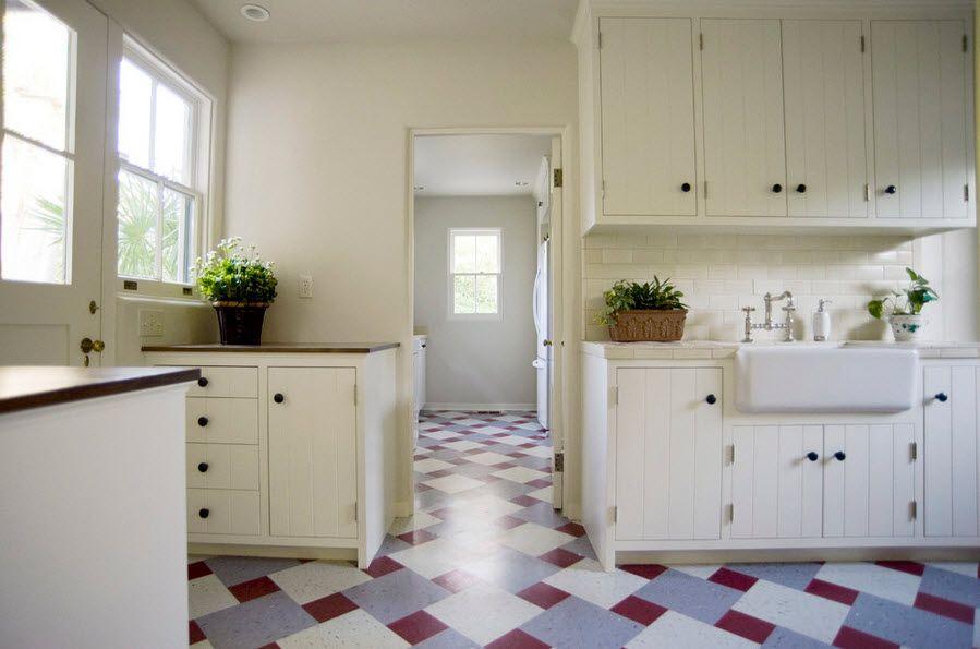 полы изх линолеума на кухне