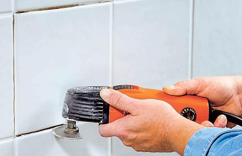 Как удалить старую затирку из швов плитки, чем отмыть и оттереть