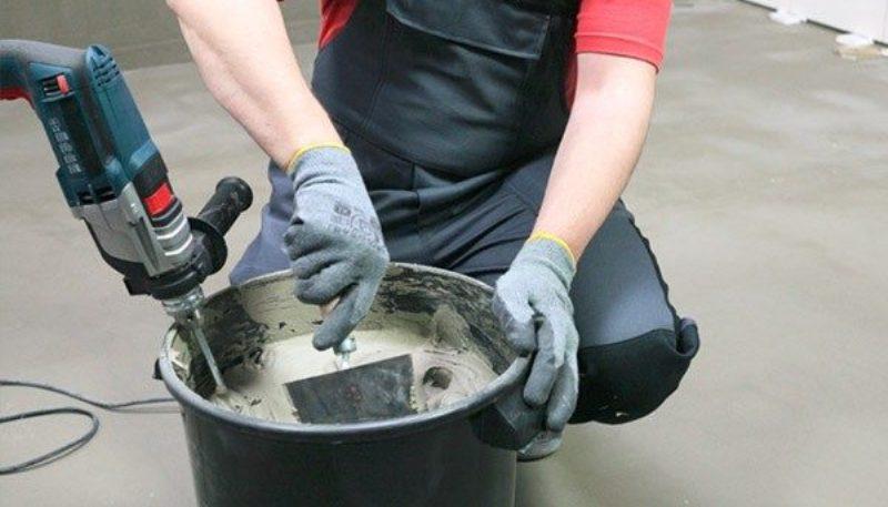 Как размешать плиточный клей