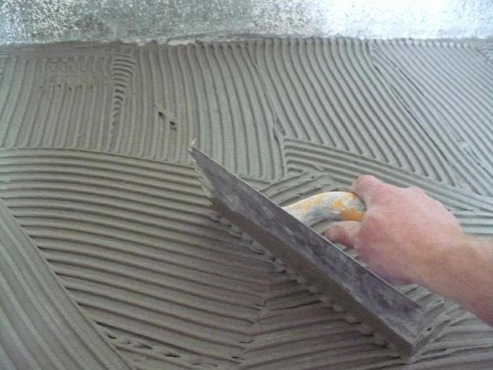 Наклейка плитки на гипсокартон