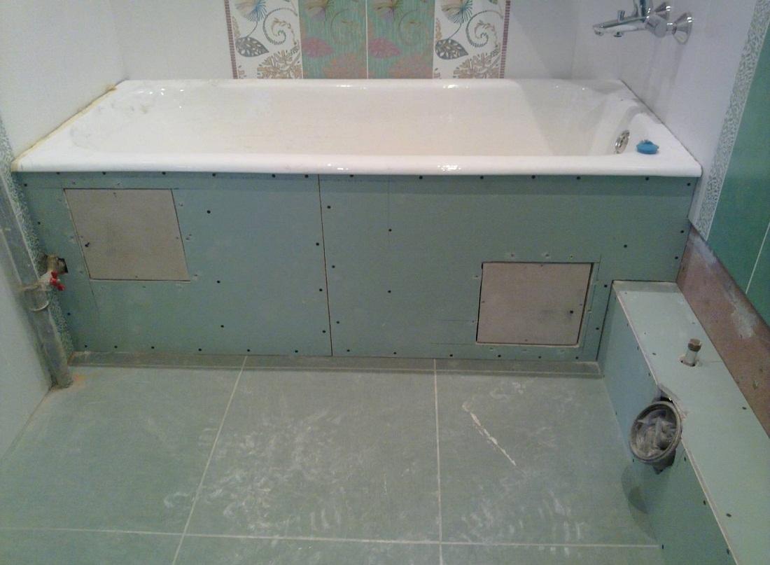 Плитку на гипсокартон в ванной своими руками фото 268