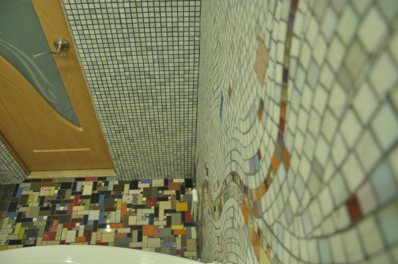 Мозаика своими руками в ванной комнате фото в 95