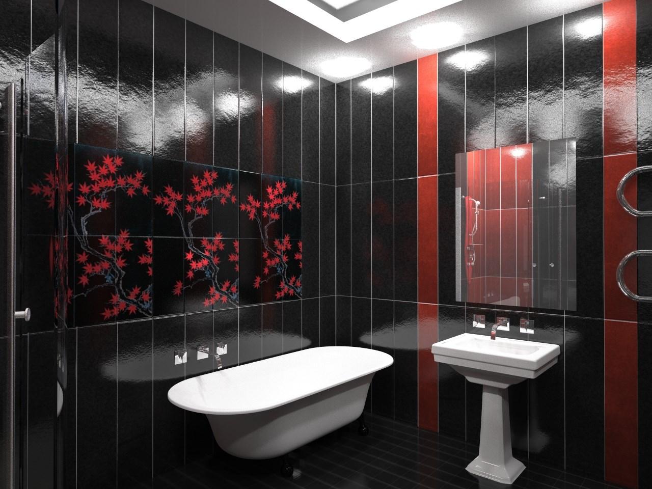 Фото ремонт в ванной комнате пластиковыми панелями
