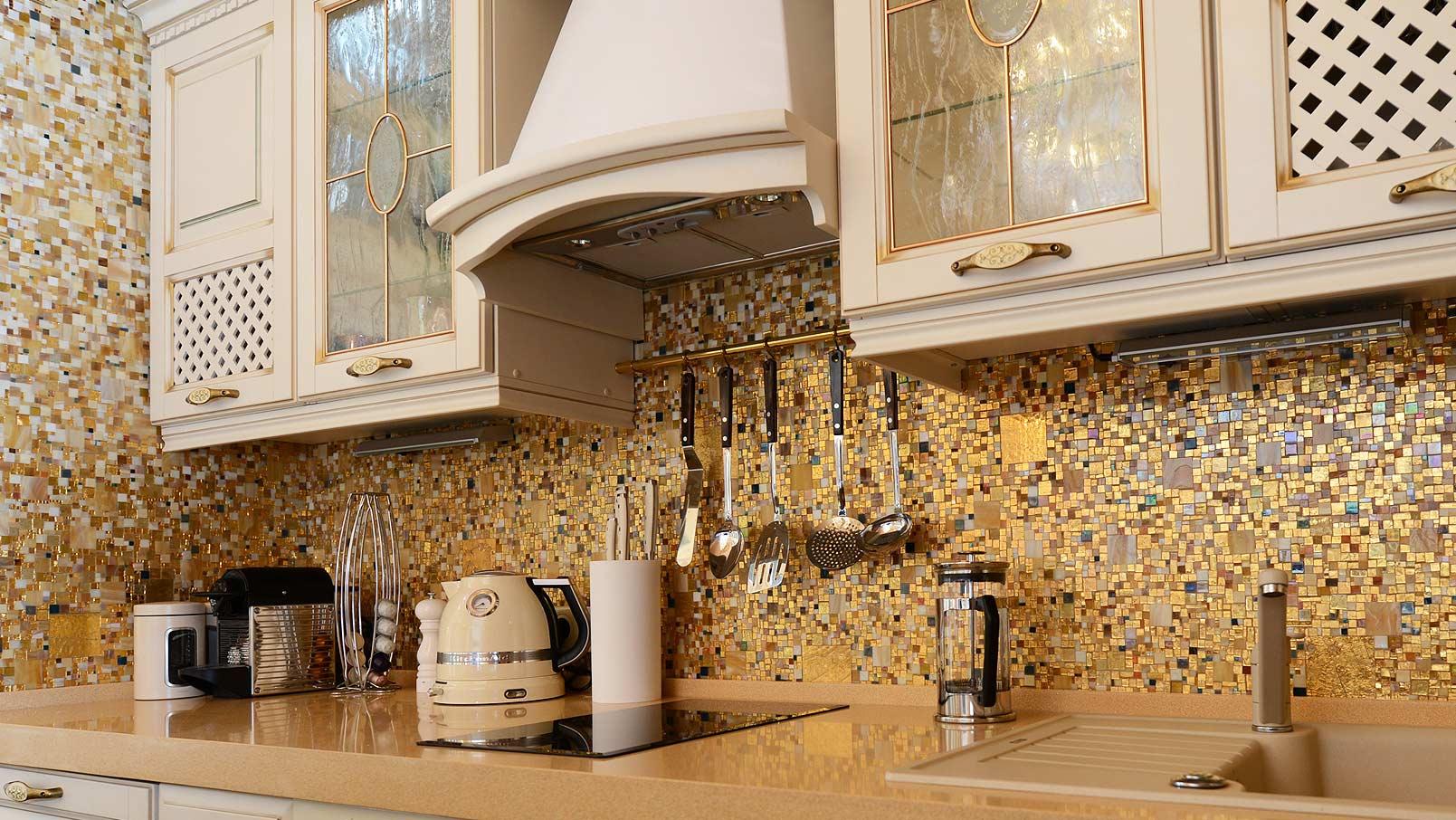 Mosaik für die Küche Schürze
